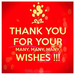 my birthday wishes thank you for all