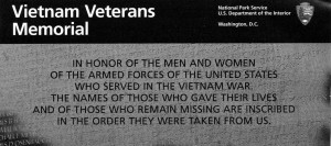 Vietnam Veterans Memorial Day Quote