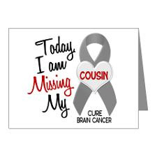 Missing 1 Cousin BRAIN CANCER Note Cards (Pk of 10 for