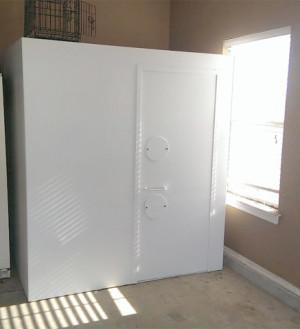 Tornado Storm Shelter Saferoom Installed In Garage Photo Gallery
