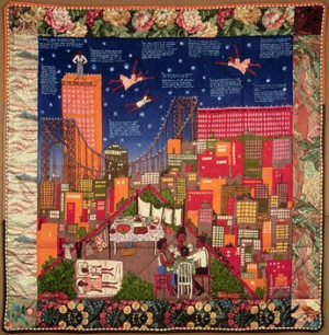 Inspired by Faith Ringgold's Story Quilts