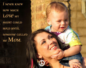 Love Mommy And Daddy Quotes Baby quote: i never knew how