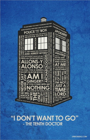 10th Dr. Who Inspired Quote Poster