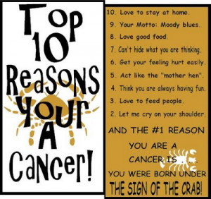 ... cancer top 10 reasons you are cancer who are cancer cancer likes