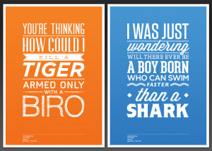 The Office Typography Quote Posters…