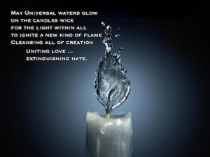 Candle Water Flame Pamela quote
