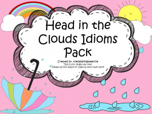 Head In The Clouds Idioms Activity & FREEBIES
