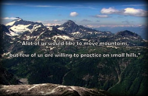Move mountains Quote