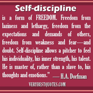 Self-Discipline Quotes -