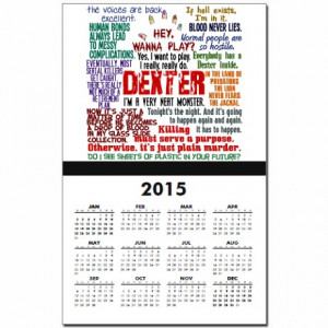 ... favorite serial killer calendars best dexter quotes calendar print