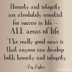 Honesty and integrity