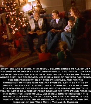 Lds Christmas Quote.