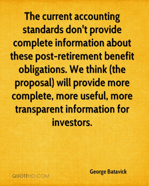 The current accounting standards don't provide complete information ...