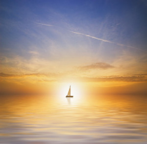 ... our ship, through clear and calm waters, towards the new dawn