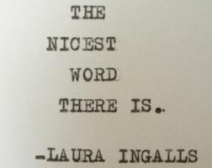 LAURA INGALLS WILDER quote home quote