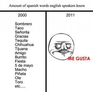 Funny photos funny Me Gusta spanish words