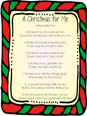 christmas poems for teachers from students