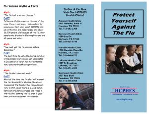 Flu Vaccine Brochure