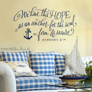 Anchor Quotes From The Bible Verse with anchor hand