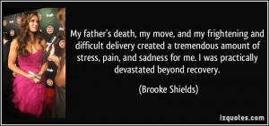 My father's death, my move, and my frightening and difficult delivery ...