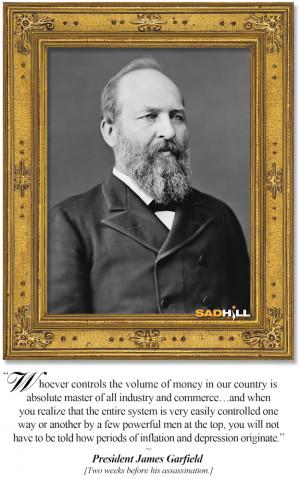 james abram garfield president garfield quote portrait frame sad hill ...