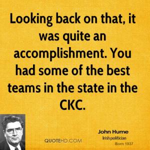 Team Accomplishment Quotes