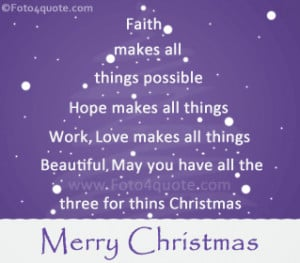 Best Christmas quotes and cards - Faith makes all things possible ...