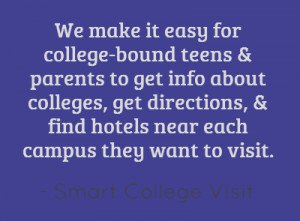 We make it easy for college-bound teens & parents to