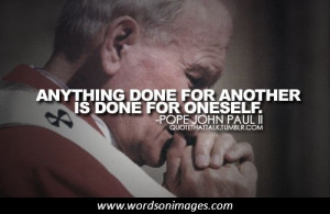 Quotes by pope john paul ii
