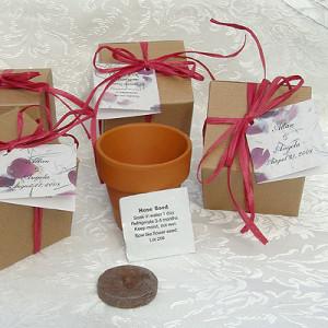 Flower Seed Wedding Favors Sayings Flower Seed Wedding Favors
