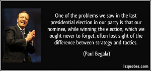 election in our party is that our nominee, while winning the election ...