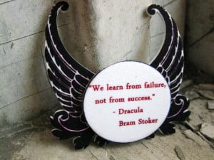 Quote Inspired Brooch from Dracula Vampire