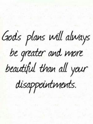God's Plan...