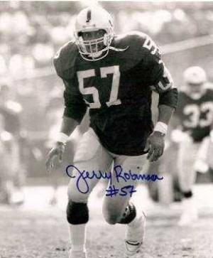 Jerry Robinson Raiders Autograph