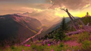 唯美落日风景高清桌面壁纸