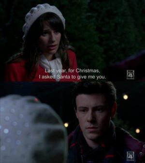 christmas, glee, love, quotes, santa, you