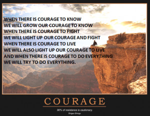 ... wallpaper on Poem On Courage : Courage is the price that life