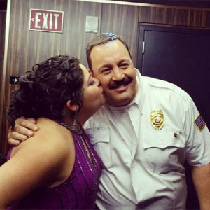 raini-rodriguez-kevin-james-kiss-on-cheek-mall-cop
