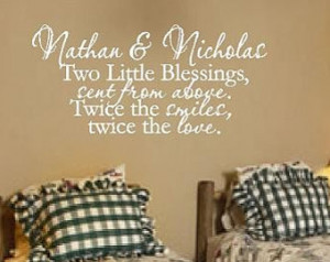 Popular items for twin wall decals on Etsy