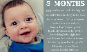 Rafael is 5 Months Old!