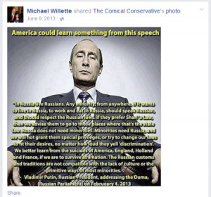 Willette also made disparaging comments about Muslims in his own words ...