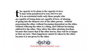 osho # alone # love # quotes # osho quotes # quote # finding youself ...