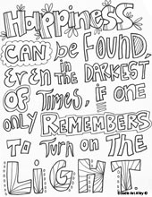 Doodle Art Alley Quotes Coloring Pages