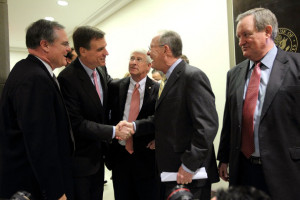 in this photo mark warner mark pryor roger wicker lamar alexander