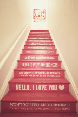 cute, heart, love, pink, quotes, separate with comma, stairs, sweet ...