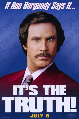 Ron Burgundy introduces his new advice column.