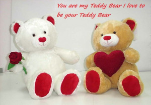 Teddy bear is a faithful friend You can pick him up at either end