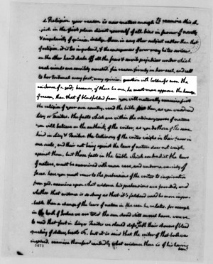 The quote, highlighted on a page of the original letter.