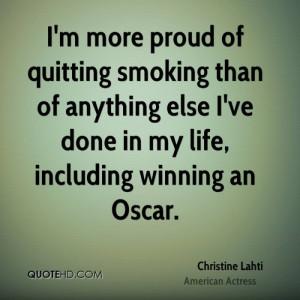 Quitting smoking is hard