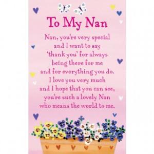Heartwarmers Keepsake Wallet Card Code K096E - To My Nan
